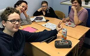 Фото с занятий языкового центра ЕврАзия